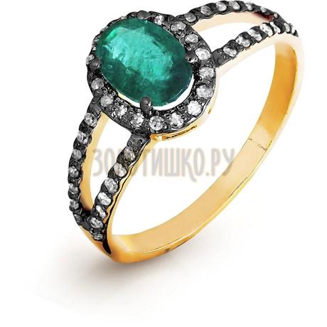 Кольцо с изумрудом и бриллиантами Т141016437-01_3