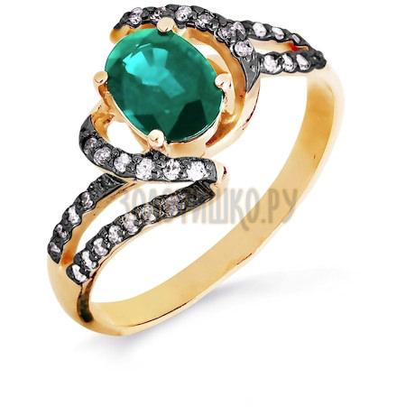 Кольцо с изумрудом и бриллиантами Т141016439-01_2