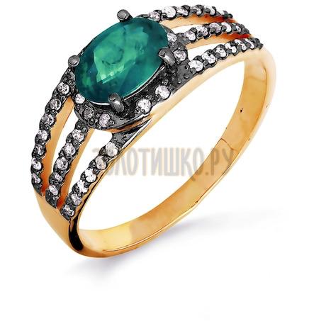 Кольцо с изумрудом и бриллиантами Т141016440-01_3