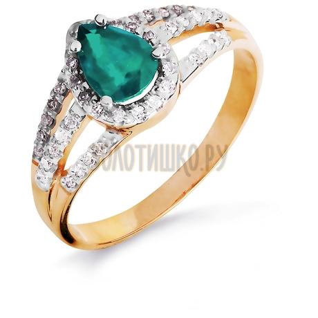 Кольцо с изумрудом и бриллиантами Т141016441_2