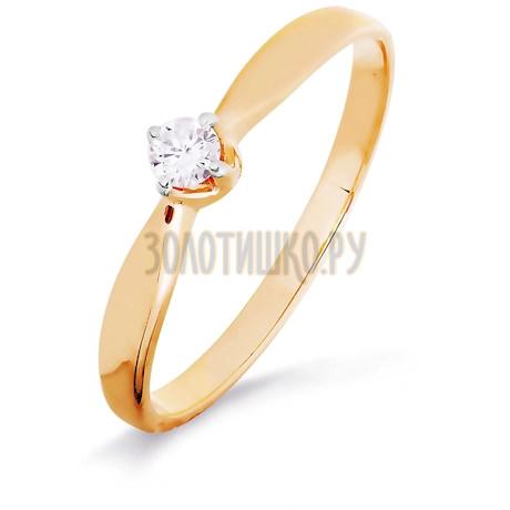 Кольцо с бриллиантом Т141016453-4