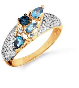 Кольцо с топазами и бриллиантами Т141016459