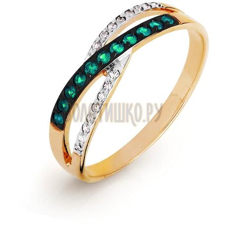 Кольцо с изумрудами и бриллиантами Т141016484_2