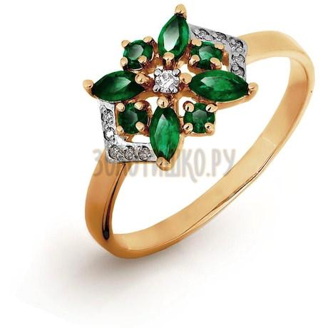 Кольцо с изумрудами и бриллиантами Т141016521_3