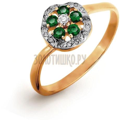 Кольцо с изумрудами и бриллиантами Т141016522_3