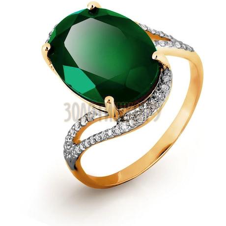 Кольцо с бриллиантами и ониксом Т141016563-01