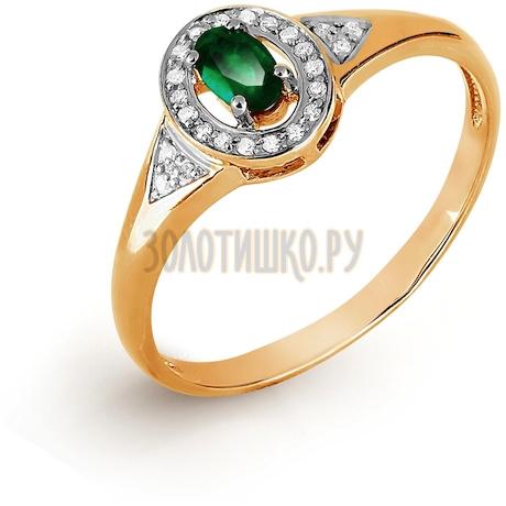 Кольцо с изумрудом и бриллиантами Т141017053