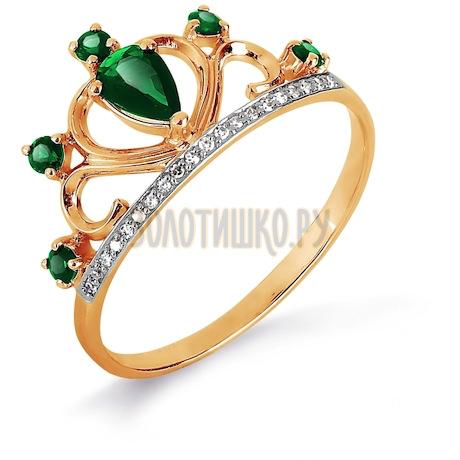 Кольцо с изумрудами и бриллиантами Т141017120