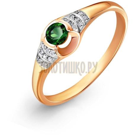 Кольцо с изумрудом и бриллиантами Т141017215