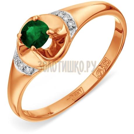 Кольцо с изумрудом и бриллиантами Т141017217