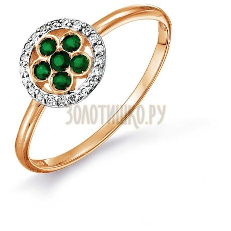 Кольцо с изумрудами и бриллиантами Т141017664