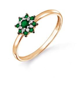 Кольцо с изумрудами и бриллиантами Т141017665