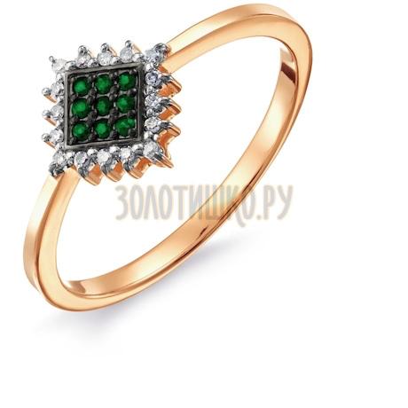 Кольцо с изумрудами и бриллиантами Т141017666_2
