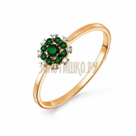 Кольцо с изумрудами и бриллиантами Т141017669