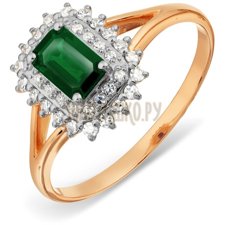 Кольцо с изумрудом и бриллиантами Т141017798_2