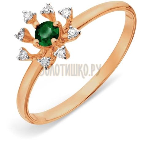 Кольцо с изумрудом и бриллиантами Т141018061_3