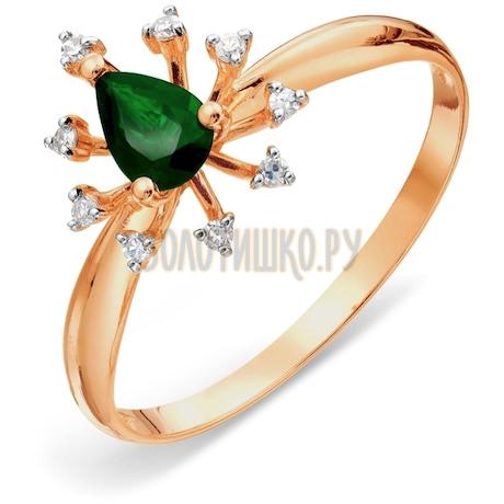 Кольцо с изумрудом и бриллиантами Т141018063_3