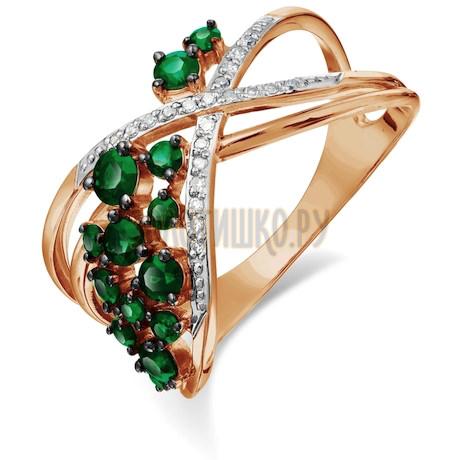 Кольцо с изумрудами и бриллиантами Т141018066_3