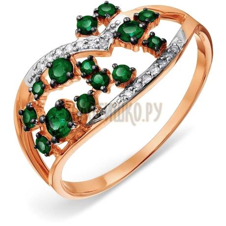 Кольцо с изумрудами и бриллиантами Т141018067_2