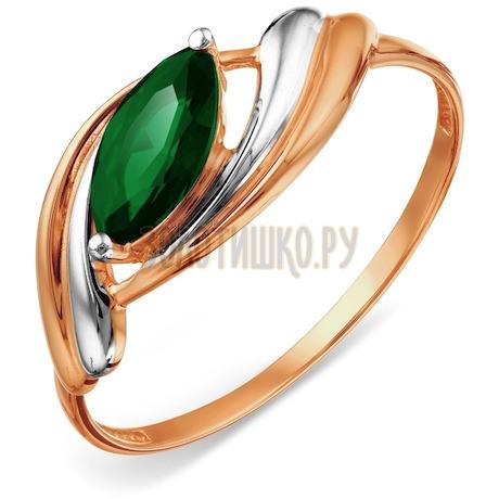 Кольцо с изумрудом искусственным Т141018248-01