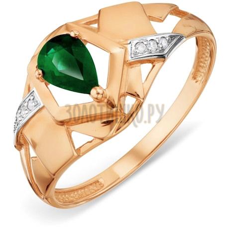 Кольцо с изумрудом и бриллиантами Т141018450_3