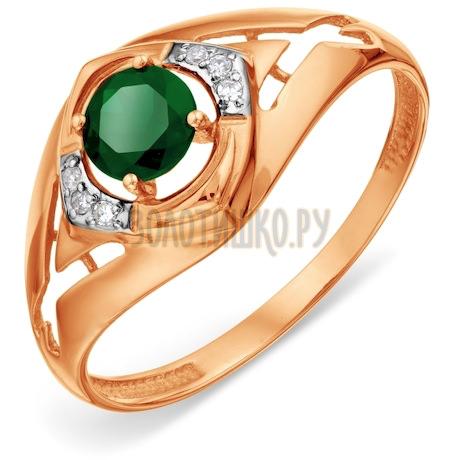 Кольцо с изумрудом и бриллиантами Т141018451