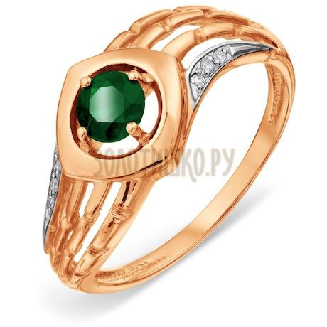 Кольцо с изумрудом и бриллиантами Т141018452_3