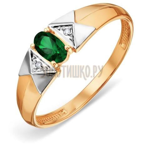 Кольцо с изумрудом и бриллиантами Т141018806