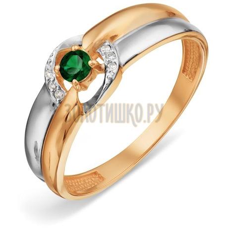 Кольцо с изумрудом и бриллиантами Т141018808_3
