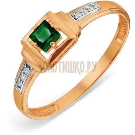 Кольцо с изумрудом и бриллиантами Т141018854