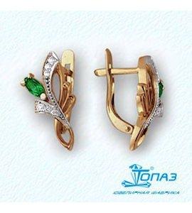 Серьги с изумрудами и бриллиантами Т141021118_2