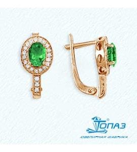 Серьги с изумрудами и бриллиантами Т141021646