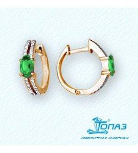 Серьги с изумрудами и бриллиантами Т141021844_3