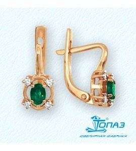 Серьги с изумрудами и бриллиантами Т141022013