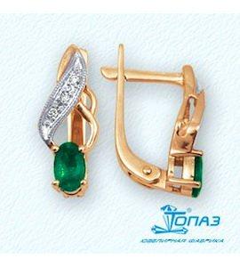 Серьги с изумрудами и бриллиантами Т141022024_3