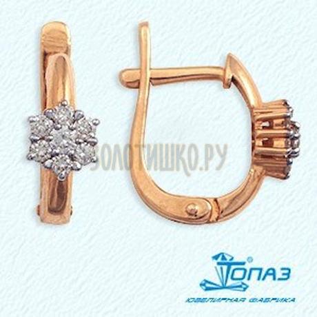 Серьги из красного золота Т141022075