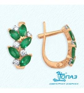 Серьги с изумрудами и бриллиантами Т141022137_2