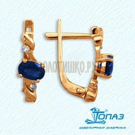 Серьги из красного золота Т141022145