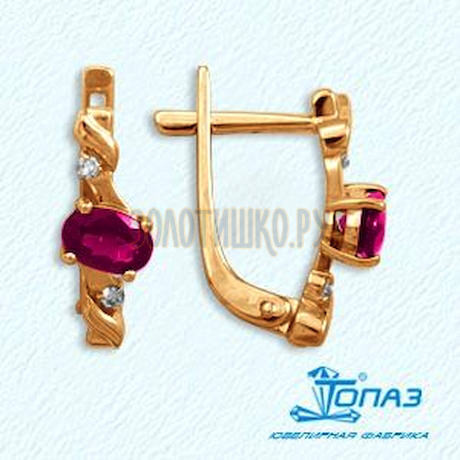 Серьги из красного золота Т141022145_3