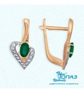 Серьги с изумрудами и бриллиантами Т141022163_3