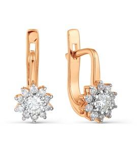 Серьги с бриллиантами Т141022195