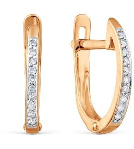 Серьги с бриллиантами Т141024516