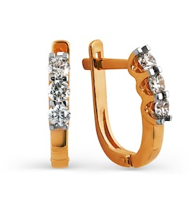 Серьги с бриллиантами Т141024968