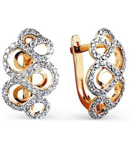 Серьги с бриллиантами Т141025145
