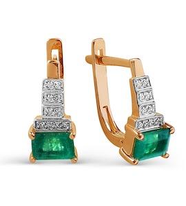 Серьги с изумрудами и бриллиантами Т141025652_3