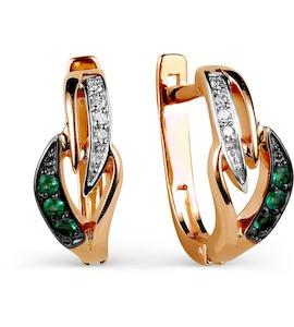 Серьги с изумрудами и бриллиантами Т141025871_3