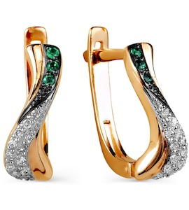 Серьги с изумрудами и бриллиантами Т141025876_3