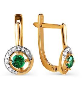 Серьги с изумрудами и бриллиантами Т141026000