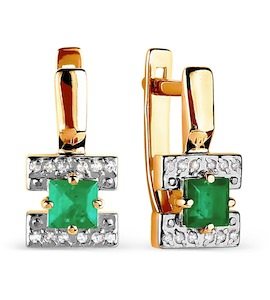Серьги с изумрудами и бриллиантами Т141026285_3