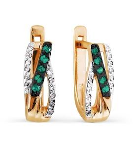 Серьги с изумрудами и бриллиантами Т141026765_3